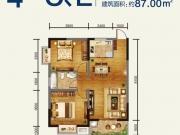 腾龙国际C/E户型2室2厅1卫87㎡