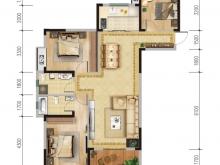 汇霖·K-MALL时尚广场A户型3室2厅2卫1阳台 135.65㎡