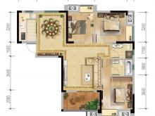 汇霖·K-MALL时尚广场B户型3室2厅2卫1阳台 120.88㎡