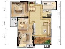 汇霖·K-MALL时尚广场C户型3室2厅1卫1阳台 99.66㎡