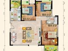 东风阳光城四期锦程世家M户型3室2厅1卫2阳台 116㎡