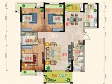东风阳光城四期锦程世家N户型3室2厅2卫2阳台 121㎡