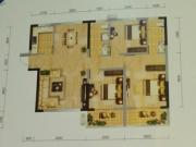 冠城美立方C户型3室2厅2卫2阳台125.66㎡
