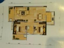 冠城美立方D户型2室2厅1卫2阳台 92.32㎡