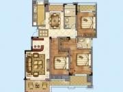 公元海C2户型3室2厅2卫2阳台127.25㎡