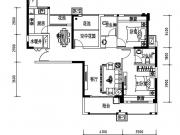 公元海01户型2室2厅2卫108.96㎡