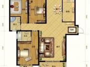 亚之洲广场C1户型3室2厅2卫2阳台131.5㎡