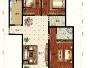 亚之洲广场D1户型3室2厅2卫2阳台127.78㎡