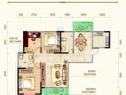 九州龙城A户型3室2厅2卫2阳台125.74㎡