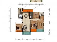 大美盛城3期美珑公园D01户型4室2厅2卫2阳台 175.23㎡