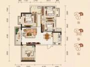 京东壹号B户型3室2厅1卫1阳台100.3㎡