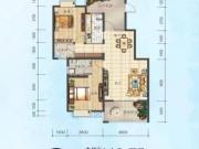 四方新城和园C户型2室2厅2卫118.75㎡