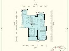 恒大城•御峰①户型3室2厅2卫 127.38㎡