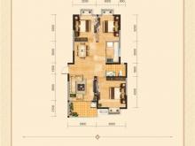 兴丽城E2户型3室2厅1卫 115㎡