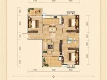 兴丽城C9户型3室2厅2卫 119㎡