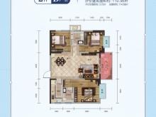远洋悦府D户型3室2厅2卫 110.96㎡