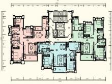 恒大城•御峰1户型3室2厅2卫 129.32㎡