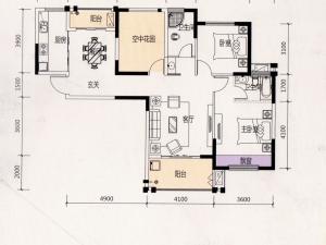天麟时代经典116.37平米两室两厅 打造百变生活