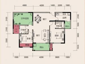 奢华平层大宅 实拍天麟时代经典3号楼116平米大三房