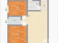 冠城美立方2室1厅1卫60平,22万,低价出售