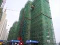 美珑公园14号楼建至14层 21号楼防护网已拆除