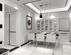 66㎡两居室现代简约黑白灰风格