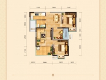 兴丽城12号楼建筑面积约100平米三房清水样板间
