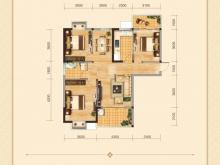 兴丽城12号楼建筑面积约120平米三房清水样板间