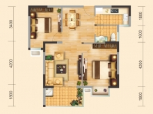 兴丽城13号楼建筑面积约81.17平米户型实拍