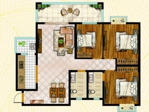 实用大三房户型推荐 宽敞明亮舒适度还高