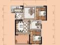 卢浮宫21#楼建筑面积97平米清水样板视频看房