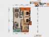 大美盛城3期美珑公园3室2厅1卫121.48㎡户型实拍