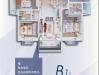 國瑞文旅城建面約110㎡三室兩廳兩衛B1戶型