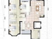 上海城A户型3室2厅2卫151.00㎡