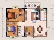 中东国际F户型3室2厅1卫107.45㎡
