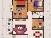 中东国际G户型3室2厅1卫106.90㎡