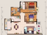 中东国际H户型3室2厅1卫125.21㎡