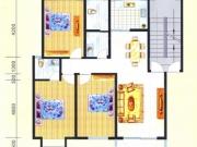 滨岸星城B户型3室2厅2卫116.28㎡