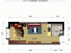 D户型1室1厅1卫 33.79㎡