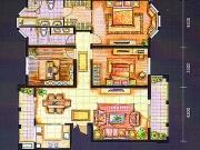 上海城F户型3室2厅2卫152.00㎡