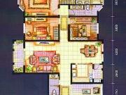 上海城F户型3室2厅3卫183.00㎡