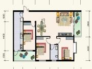 水岸新都A户型3室2厅1卫109.15㎡