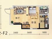 盛世广场H户型1室1厅1卫39.96㎡
