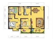 八十阶C户型3室2厅2卫107.62㎡