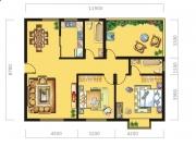 八十阶D户型2室2厅2卫119.36㎡