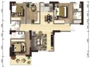 图安盛景A户型4室2厅3卫138.30㎡