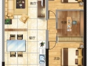 东城之光D户型2室2厅1卫101.48㎡