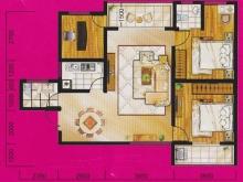冠城美立方A户型3室2厅2卫 102.00㎡