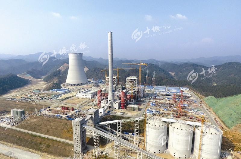 京能十堰热电联产项目建设现场